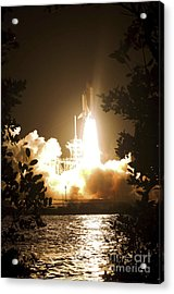 Space Shuttle Endeavour Liftoff Acrylic Print by Stocktrek Images