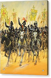 Spanish Conquistadors Acrylic Print by Graham Coton