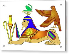 Sphinx - Mythical Creatures Of Ancient Egypt Acrylic Print by Michal Boubin