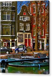 Acrylic Print featuring the photograph Spiegelgracht 6. Amsterdam by Juan Carlos Ferro Duque