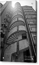 Acrylic Print featuring the photograph Spiral Staircase by Aiolos Greek Collections