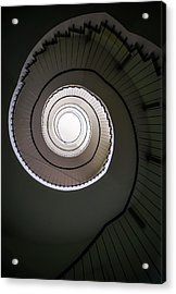 Acrylic Print featuring the photograph Spiral Staircase In Brown Tones by Jaroslaw Blaminsky