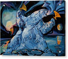 Acrylic Print featuring the painting Spirit Of The Arctic Winter Games  by Tim  Heimdal
