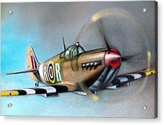 Spitfire  Acrylic Print by Riek  Jonker
