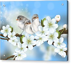 Acrylic Print featuring the painting Spring Fever by Veronica Minozzi