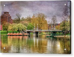 Acrylic Print featuring the photograph Spring In The Boston Public Garden by Joann Vitali