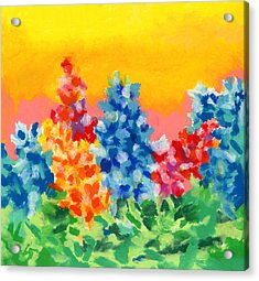 Acrylic Print featuring the painting Spring Wildflowers by Stephen Anderson