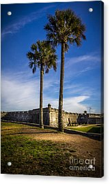 St. Augustine Fort Acrylic Print by Marvin Spates