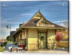 St. Charles Depot Acrylic Print