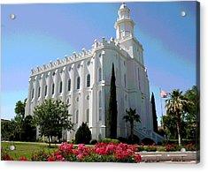 St George Utah Temple Acrylic Print