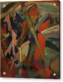 St. George Acrylic Print by Wassily Kandinsky