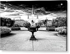 St. Louis Cathedral Drama Acrylic Print