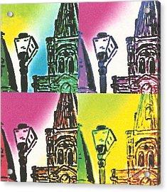 St. Louis Cathedral Pop  Acrylic Print by John Giardina