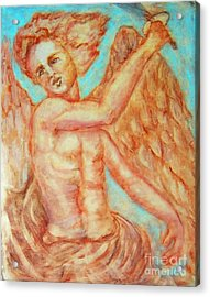St. Michael The Archangel Acrylic Print by Suzanne Reynolds