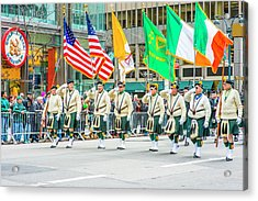 St. Patrick Day Parade In New York Acrylic Print