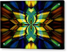 Acrylic Print featuring the photograph Stained Glass by Cherie Duran