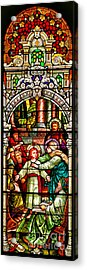 Acrylic Print featuring the photograph Stained Glass Scene 3 Crop by Adam Jewell