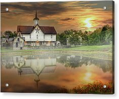 Star Barn Sunrise Acrylic Print