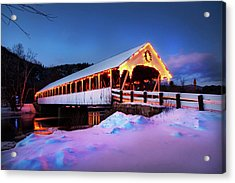 Acrylic Print featuring the photograph Stark New Hampshire by Robert Clifford