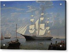Starlight In Harbor Acrylic Print