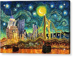 Starry Night In Pittsburgh Acrylic Print