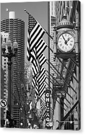State Street Scene - 1 Acrylic Print by Sheryl Thomas