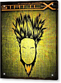 Static-x Acrylic Print by Kyle West