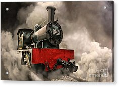 Acrylic Print featuring the photograph Steam Engine by Charuhas Images