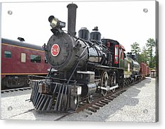 Steam Engline Number 349 Acrylic Print by Linda Geiger