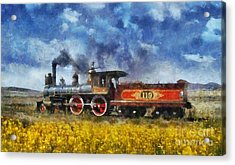 Acrylic Print featuring the photograph Steam Locomotive by Ian Mitchell