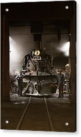 Acrylic Print featuring the photograph Steam Locomotive In The Roundhouse Of The Durango And Silverton Narrow Gauge Railroad In Durango by Carol M Highsmith