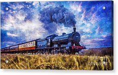 Acrylic Print featuring the digital art Steam Train by Ian Mitchell