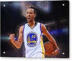Stephen Curry Acrylic Print by Semih Yurdabak