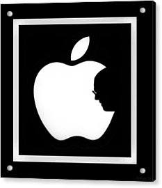 Steve Jobs Apple Acrylic Print by Rob Hans