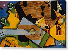 Still Life With A Guitar Acrylic Print by Juan Gris