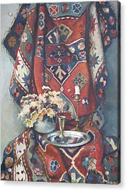 Still-life With An Old Rug Acrylic Print