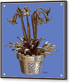 Still Life With Flowers 1 Acrylic Print by Pemaro