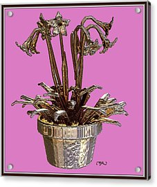 Still Life With Flowers 2 Acrylic Print by Pemaro