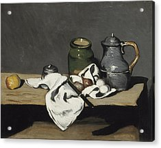 Still Life With Kettle Acrylic Print by Paul Cezanne