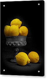 Still Life With Lemons Acrylic Print by Tom Mc Nemar