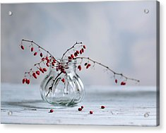 Still Life With Red Berries Acrylic Print by Nailia Schwarz
