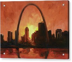 St.louis Downtown - Sunset Acrylic Print