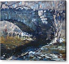 Stone Bridge At Three Sisters Islands Acrylic Print