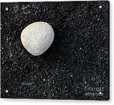 Stone In Soot Acrylic Print