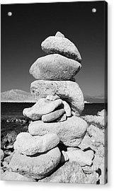 Stone Tower On Halki Island Acrylic Print