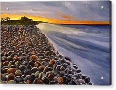 Stony Beach Acrylic Print by Mats Eriksson