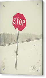Acrylic Print featuring the photograph Stop by Edward Fielding