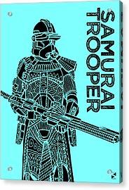 Stormtrooper - Star Wars Art - Blue Acrylic Print