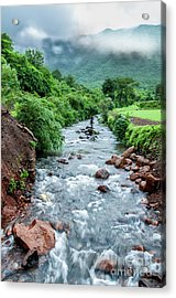 Acrylic Print featuring the photograph Stream by Charuhas Images