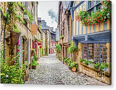 Streets Of Dinan Acrylic Print by JR Photography